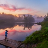 river-sunset-mist-vahonkino-boy-gloaming
